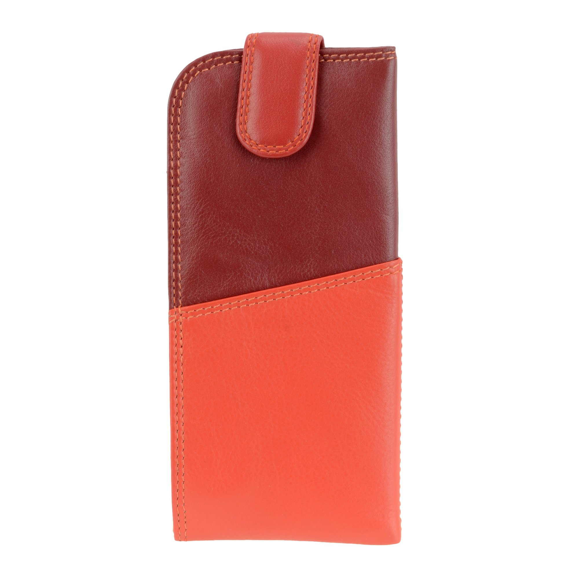 Visconti RB106 Soft Leather Eye Glasses Pouch / Sunglasses Case Holder (Red) by Visconti