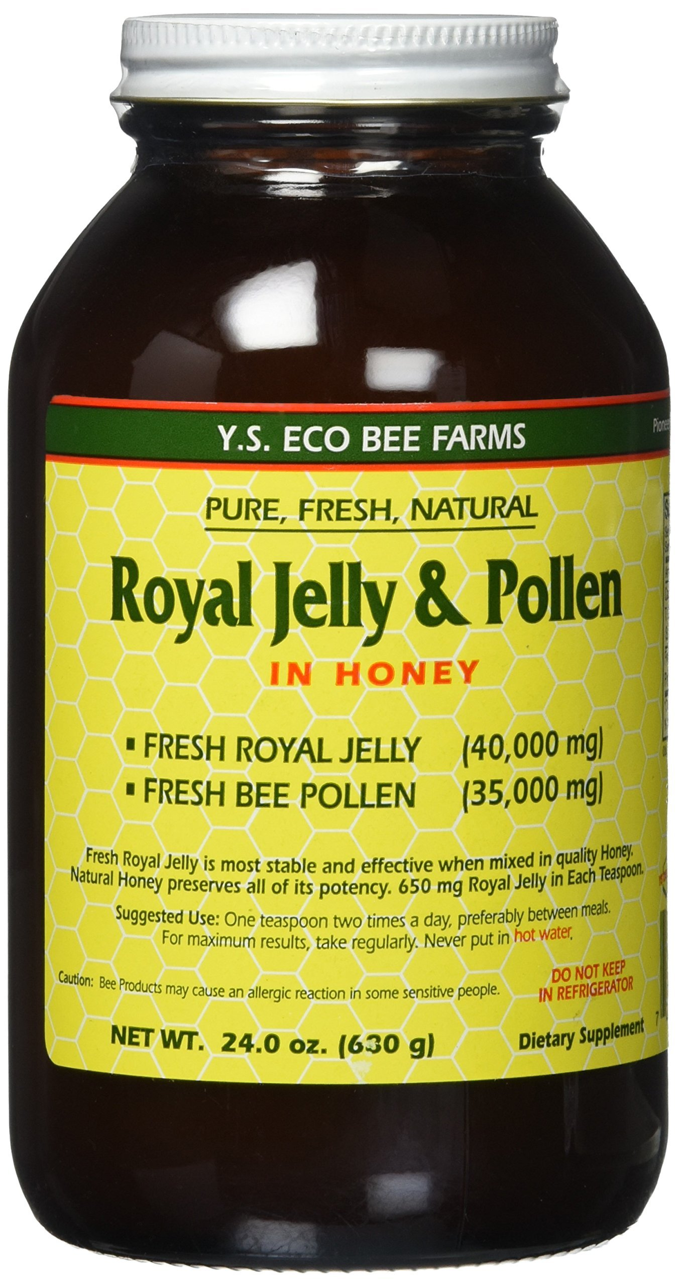 Fresh Royal Jelly + Bee Pollen, Honey Mix - 40,000 mg YS Eco Bee Farms 24.0 oz.
