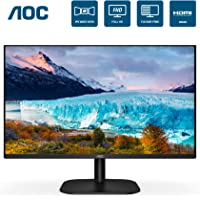 "AOC 24B2XH 24"" Full HD IPS Monitor, 3-Sided Frameless & Ultra Slim HDMI and VGA inputs, Lowblue Mode, VESA Compatible"
