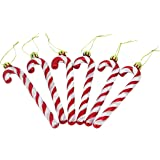 Christmas Concepts® Pack Of 6 - 13cm Red & White Glitter Candy Cane Christmas Tree Decorations