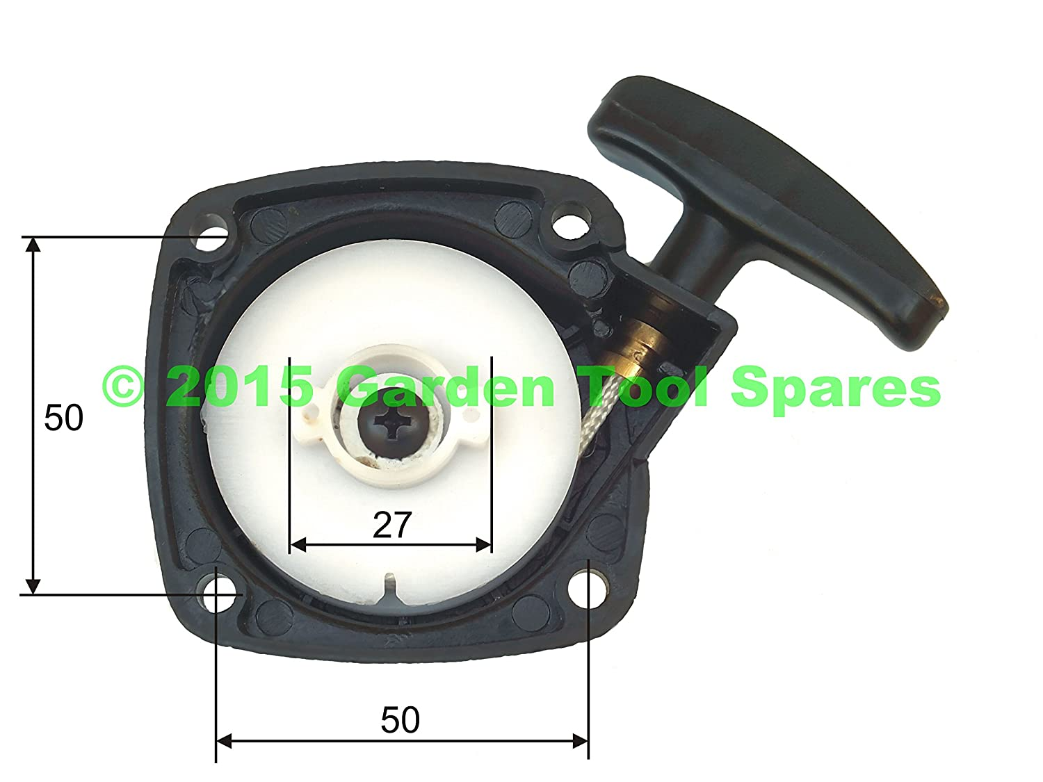 RECOIL PULL START STARTER ASSEMBLY TO FIT VARIOUS STRIMMER HEDGE TRIMMER BRUSH CUTTER Garden Tool Spares