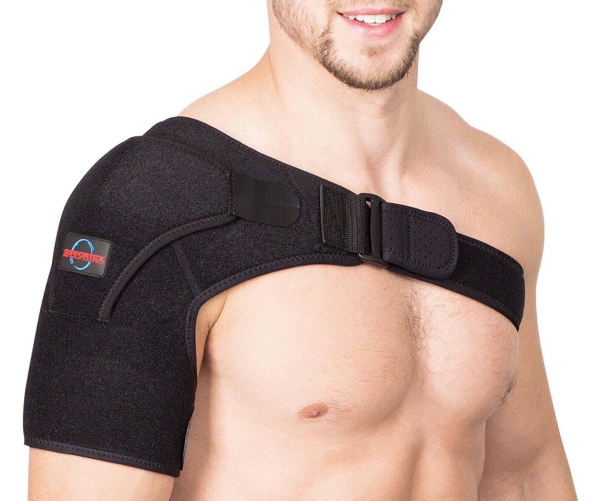Shoulder Brace for Women and Men - Left Right Shoulder Support Brace for Rotator Cuff AC Joint Dislocated Shoulder - Adjustable Neoprene Shoulder Brace - Compression Shoulder Sleeve