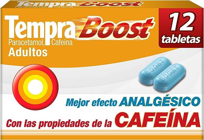 Tempra Boost con Paracetamol y Cafeína caja con 12 tabletas: Amazon.com.mx
