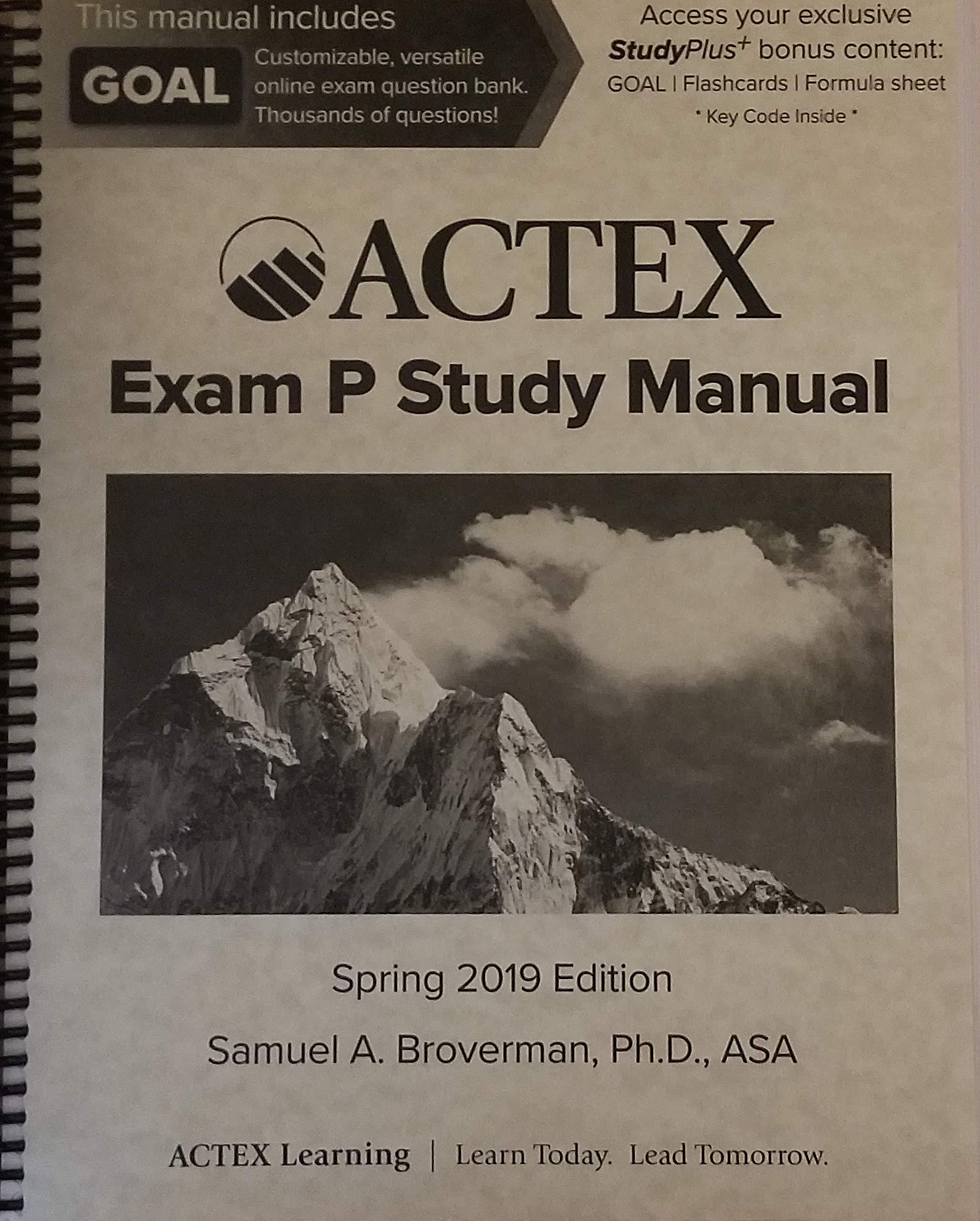 Actex Study Manual Soa Exam P Cas Exam 1 Spring 2019 Samuel A Broverman 9781635887143 Amazon Com Books