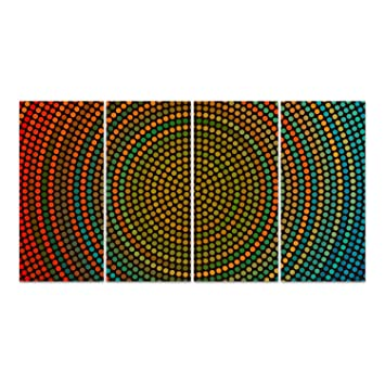 Glasbild Von Dekoglas 4 X 28x60 Muster Mehrteilig Acrylglas 4