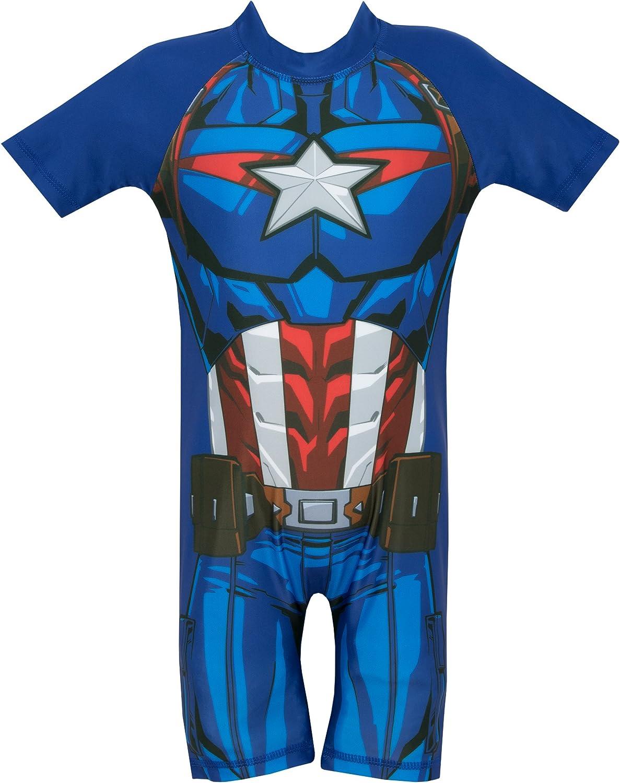 Marvel Boys Captain America Swimsuit