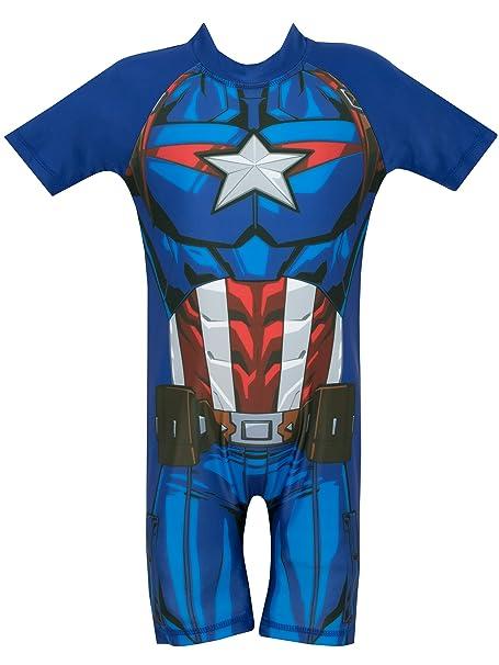 Marvel Avengers - Bañador para niño - Captain America: Amazon.es: Ropa y accesorios