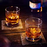 James Scott European Made Lead-Free Crystal Old Fashioned Whiskey Glasses, Excellent For Cocktail Bourbon Rocks Tumbler Glass 11 Ounce Bar Glassware Set of 2