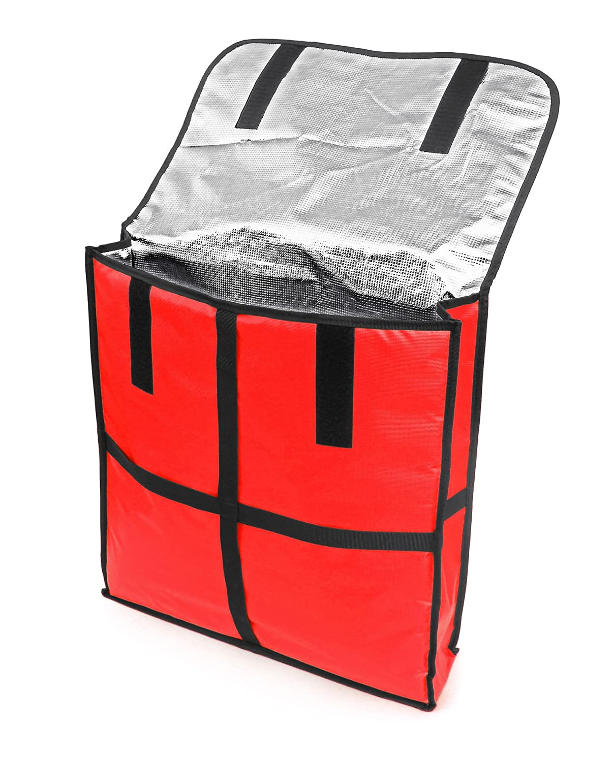 New Star 50110 Insulated Pizza Delivery Bag  22 by 22 by 5-Inch  Red New Star Foodservice