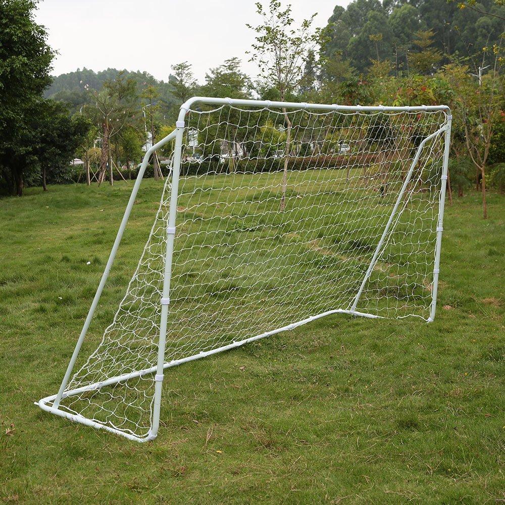 Lixadaサッカーゴール12 ' x 6 'ポータブルCompetition Football Net取り外し可能アイアンフレームwithファスナーテープ B06X9NLNN5
