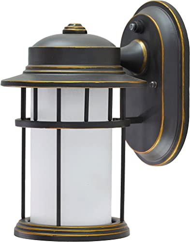 Aspen Creative 60001-2 1 Small Outdoor Wall Light Fixture