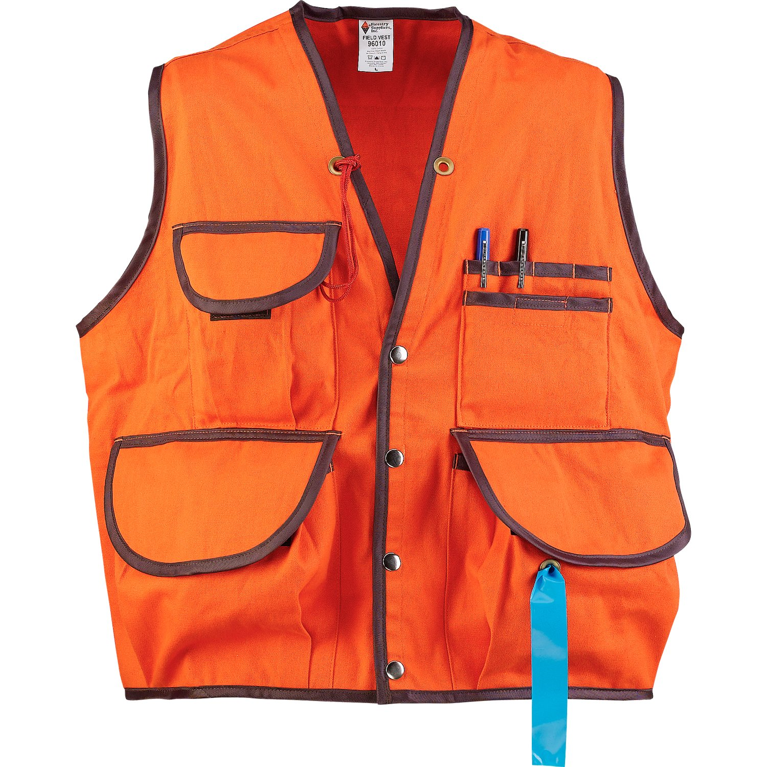 JIM-GEM Pro 10-Pocket Cotton Army Duck Cruiser Vest, X-Large, 43-46, Orange by Jim Gem (Image #1)