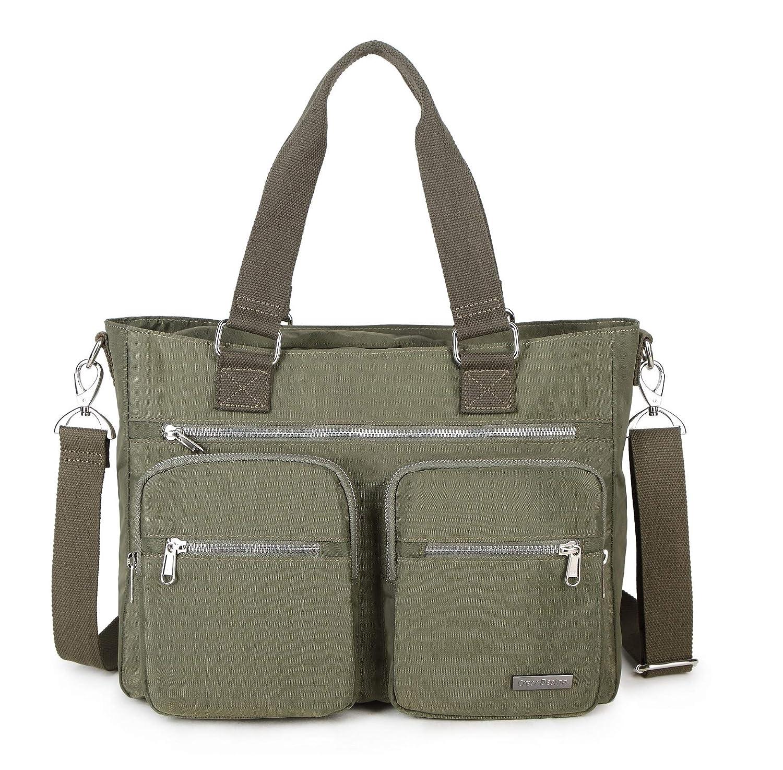 Crest Design Nylon Laptop Shoulder Bag Handbag Teacher Nurse Tote Organizer Travel Work Bag Purse