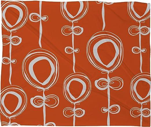 Deny Designs Rachael Taylor Contemporary Orange Fleece Throw Blanket 60 x 80