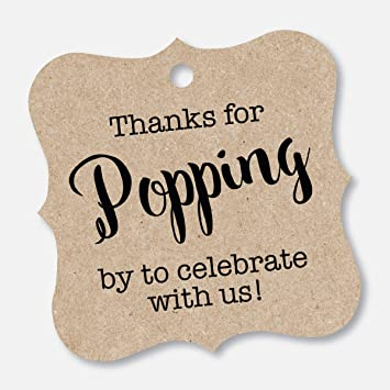 photo regarding Thanks for Popping by Free Printable known as Because of For Popping As a result of Tags, Kid Shower Popcorn Tags, Marriage Popcorn Want Tags (FS-370-KR)