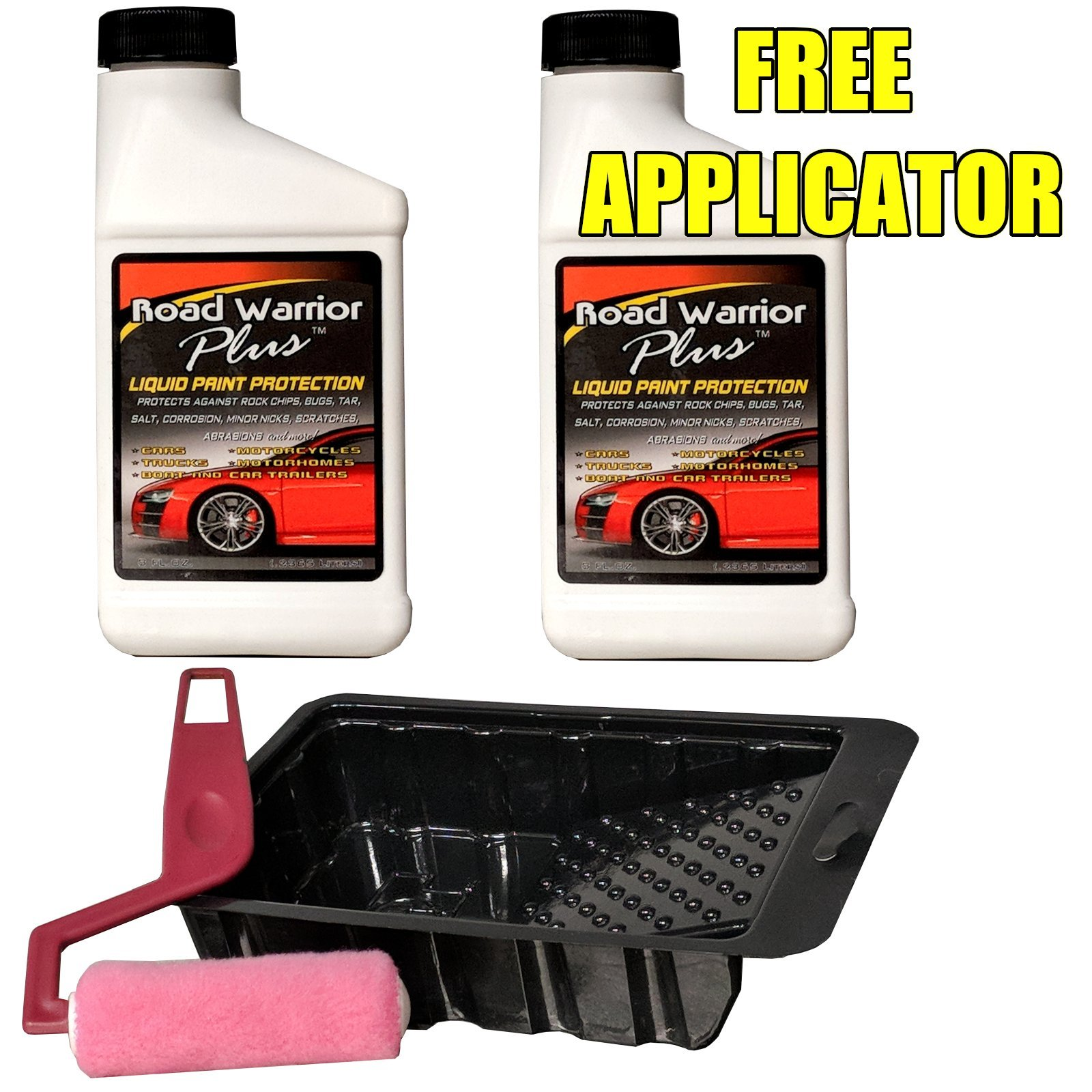 Road Warrior Plus Paint Protection Film for Rock Chips & Bugs - 16oz kit - Free APPLICATOR
