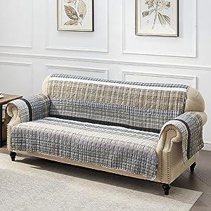 Barefoot Bungalow Gold Rush Sofa Protector Gray