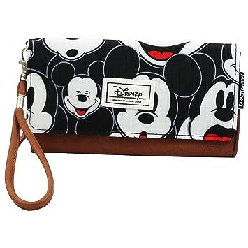DISNEY Mickey Maus Visage - Damen Geldbörse mit Metallic Button und ...