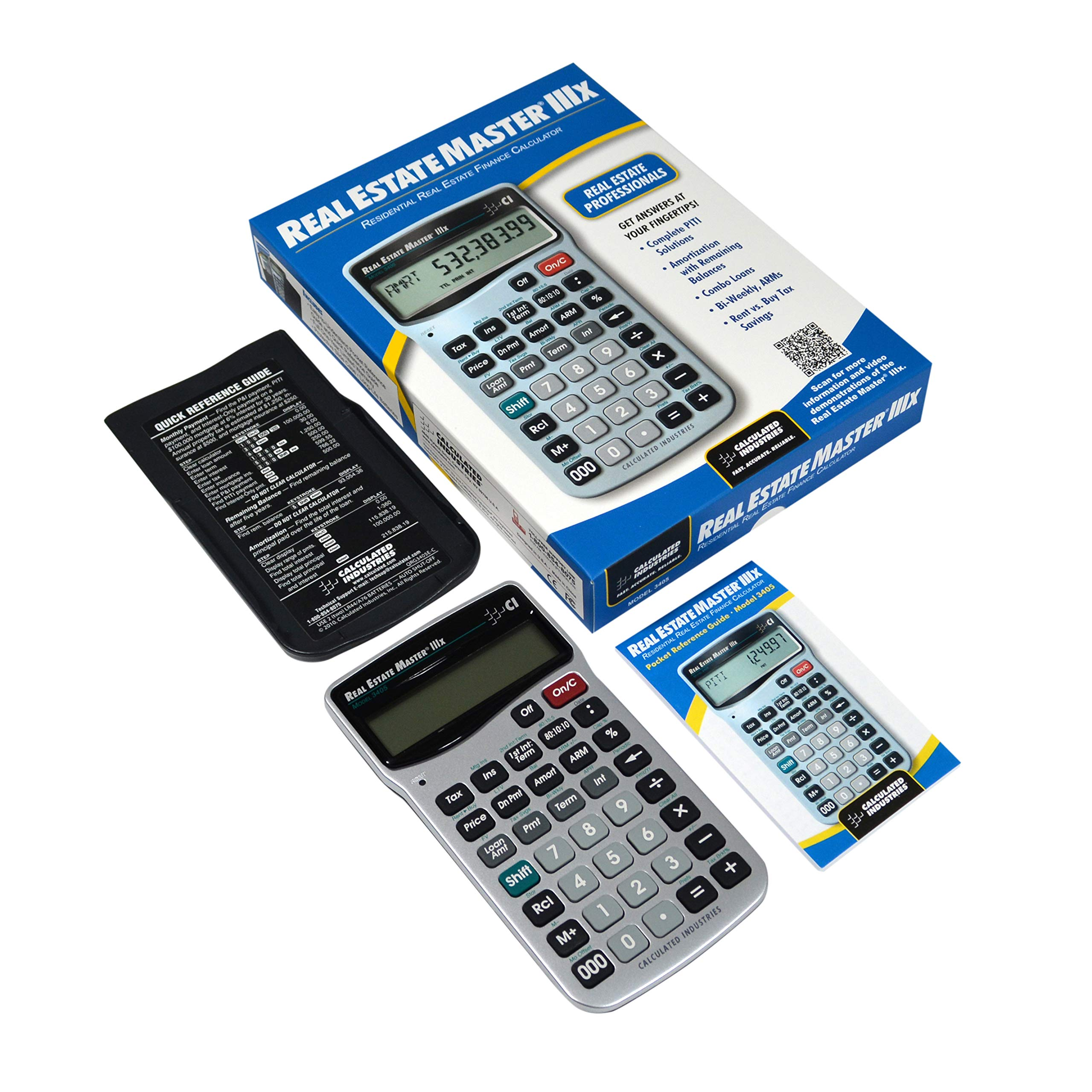 Calculated Industries 3405 Real Estate Master IIIX Real Estate Finance Calculator by Calculated Industries