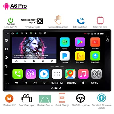 [New] ATOTO A6 2DIN Android Car Navigation Stereo - 2X Bluetooth & Phone Fast Charge - PRO A6Y2721PR-G Gesture Operation - Car Entertainment Multimedia Radio,WiFi,Support 256G SD &More: Car Electronics