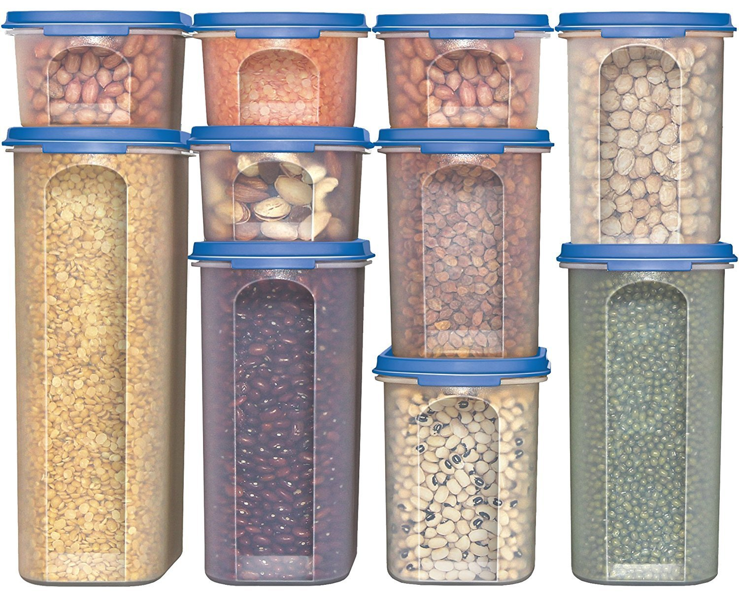 Ordinaire Food Storage Containers  STACKO  20 PC.   Airtight Dry Food Container With  Lids (10 Container Set) Milton SYNCHKG112173