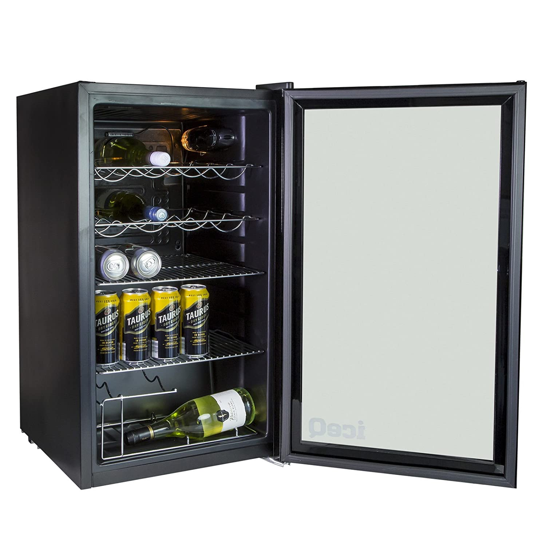 iceQ 93 Litre Under Counter Glass Door Display Fridge: Amazon.co.uk: Large  Appliances
