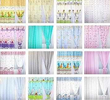 Baby Kinderzimmer Vorhange Gardine Babygardinen Kindergardinen