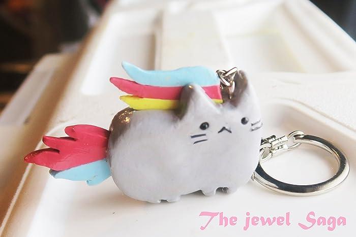 amazon com nyan cat keychain nyan cat jewelry nian cat keychain