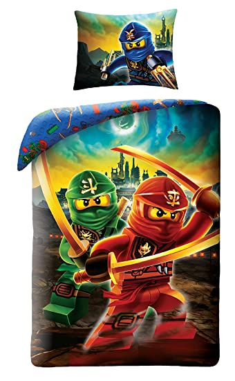 Lego Ninjago 613 Kinderbettwäsche Bettwäsche 140x200 Cm 70x90 Cm