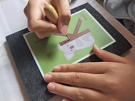 Schult/üte//Zuckert/üte Familienmomente 26 Buchstabenkarten zum Prickeln A-Z mit Tiermotiven DIN A6 Schulanfang Geschenkidee f/ür die Einschulung