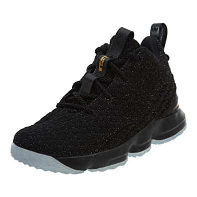 631d686d656 Nike Youth Lebron 15 Boys Basketball Shoes Black Metallic Gold 922811-006  Size 7