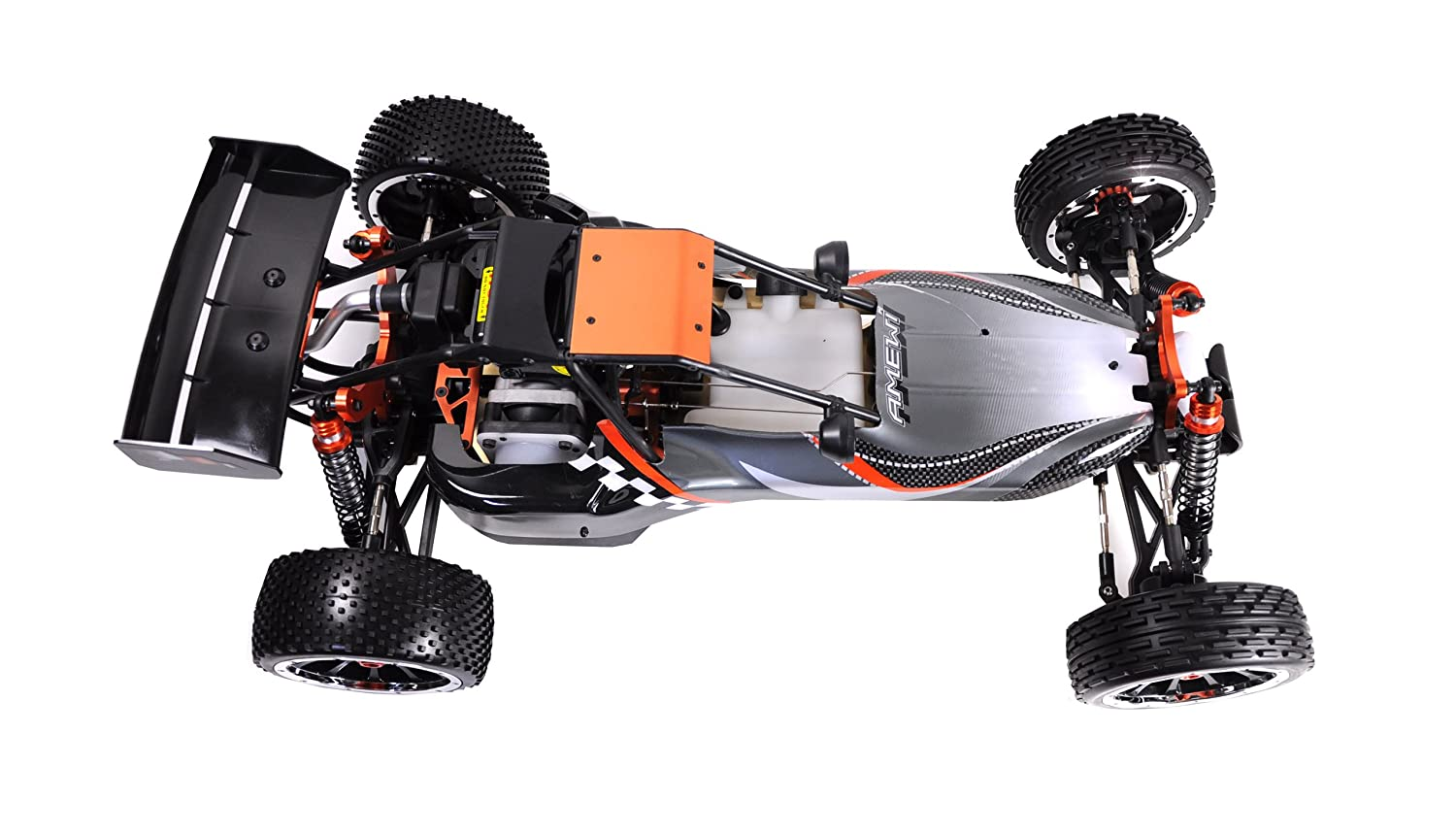 Amewi Buggy Pitbull X 25ccm 2.4 GHz M 1:5 - Radio-Controlled (RC) land vehicles: Amazon.es: Juguetes y juegos
