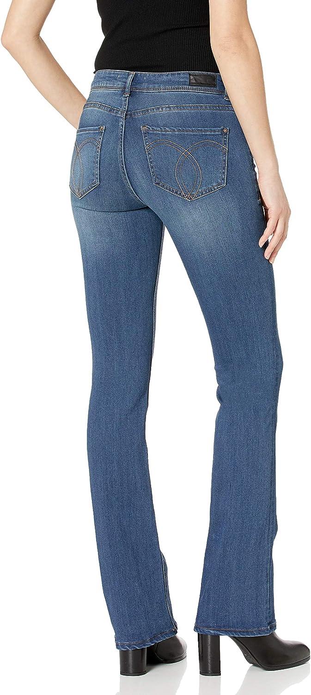 Jordache Legacy Womens Zoey Mid Rise Boot Cut Jeans Jeans