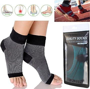 足底筋膜炎の圧縮袖 - 夜用スプリントソックス、靴、インソール、男性用足首の痛みの軽減、足首の痛みの軽減、ランニング、かかとの拍車