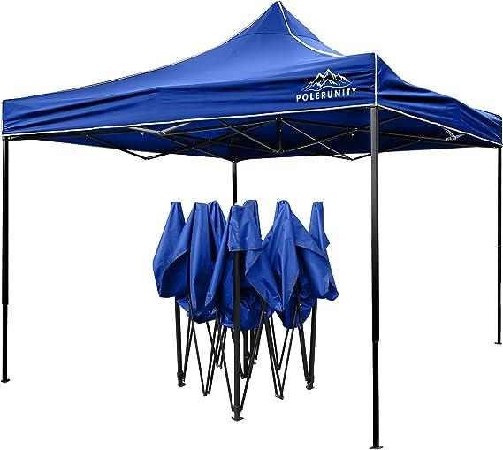 PolerUnity® - Cenador impermeable con bolsa de transporte (3 x 3 m), azul: Amazon.es: Jardín