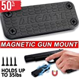 Gun Magnet for Home or Vehicle - Military Grade Magnetic Firearm Mount Holder with 35lbs Rating - For Handgun, Pistol, Rifle, Shotgun, Revolver, or Magazine - Mount Your Gun Anywhere With A Magnet