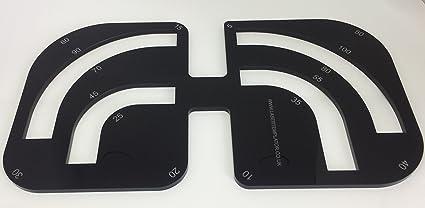 Laser Templator Kitchen Worktop Radius Router Jig - Black - Acrylic ...