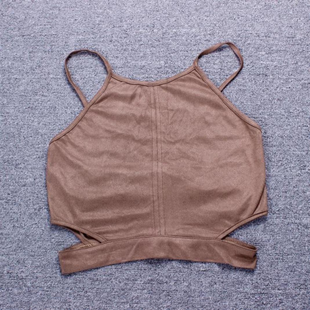Boho del Tanque Camisetas sin Mangas del Chaleco del Sujetador m/ás pechug/ón Camisa Corta Blusa de la Camisa de Cami Amlaiworld Tops Mujer L