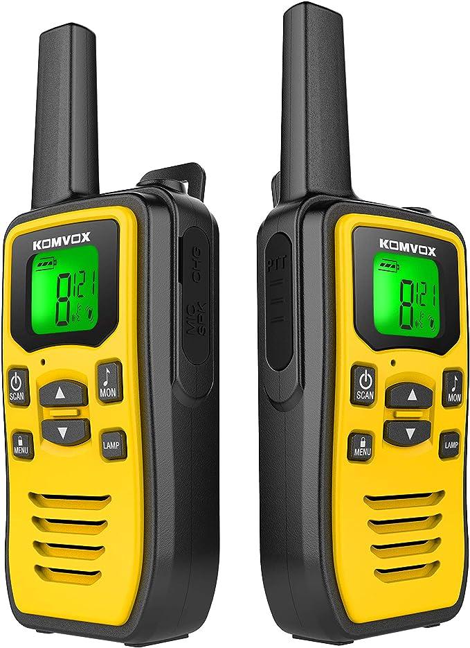 Profesionales Walkie Talkie PMR USB Recargable, Walky Talky Adultos Niños, 8 Canales de Escaneo VOX Transmisores-receptores Radio