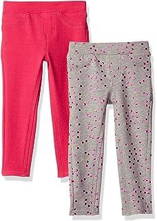98b0b1deeef08 Amazon.com: VIGOSS Little Girls' 2 Pack Leggings, Sour Grape, 6X ...