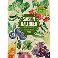 Saisonkalender Gemüse & Obst 2020, Wandkalender auf Graspapier im Hochformat (33x45 cm) - Illustrierter Kalender mit Monatskalendarium
