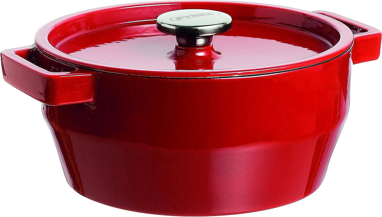 Pyrex Slow Cook - Cacerola De Hierro Fundido Redonda, 28 Cm, 6,3 L, Todos Los Fuegos