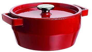Pyrex Slow Cook - Cacerola De Hierro Fundido Redonda,24 Cm, 3,6