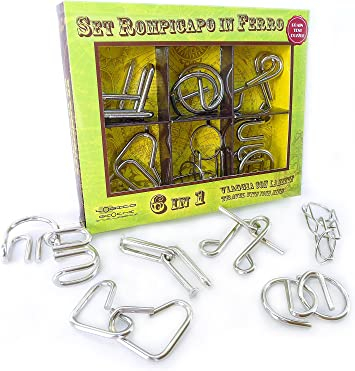 5 piece metal puzzle wire