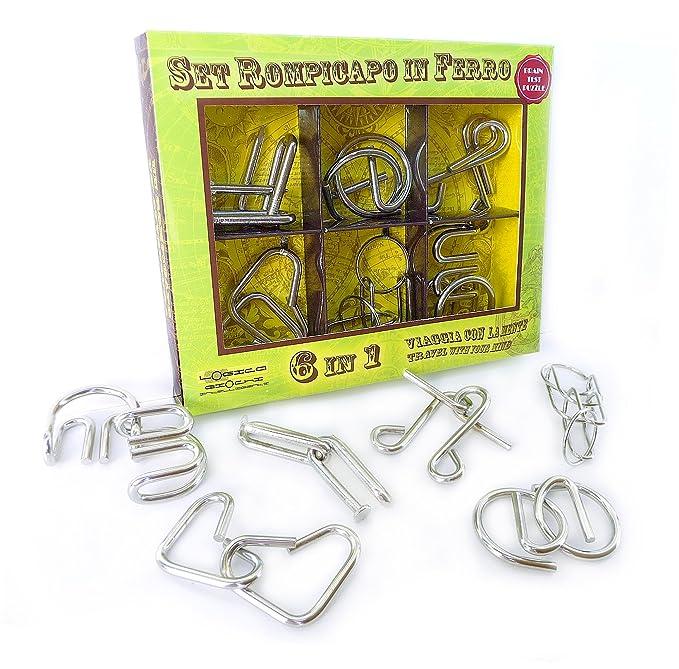 LOGICA GIOCHI Set DE Metal 6 EN 1 - Rompecabezas - Set de Puzzles ...