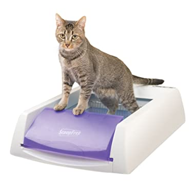 PetSafe ScoopFree Original Self-Cleaning Cat Litter Box, Automatic with Disposable Litter Tray and Blue Crystal Cat Litter, 2 Color Options