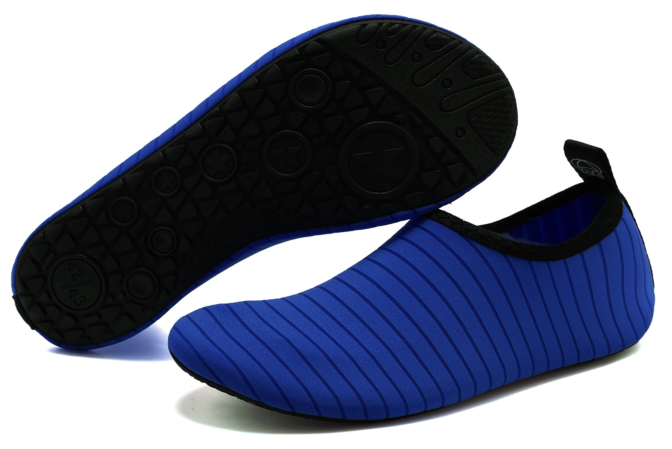GUPYING Womens and Mens Summer Outdoor Water Shoes Aqua Socks for Beach Swim Surf Yoga Exercise (M(W:7.5-8.5,M:6.5-7.5), Blue) 38-39 by GUPYING (Image #2)