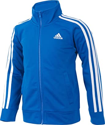 Adidas Boys Warm Up Tricot Jacket (Blue/White, S): Amazon.es ...