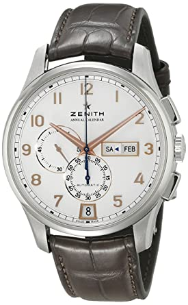 b0dbf0518bb Image Unavailable. Image not available for. Color  Zenith Men s  ZE032072405401C711 Captain Winsor Analog Display Swiss Automatic Brown Watch
