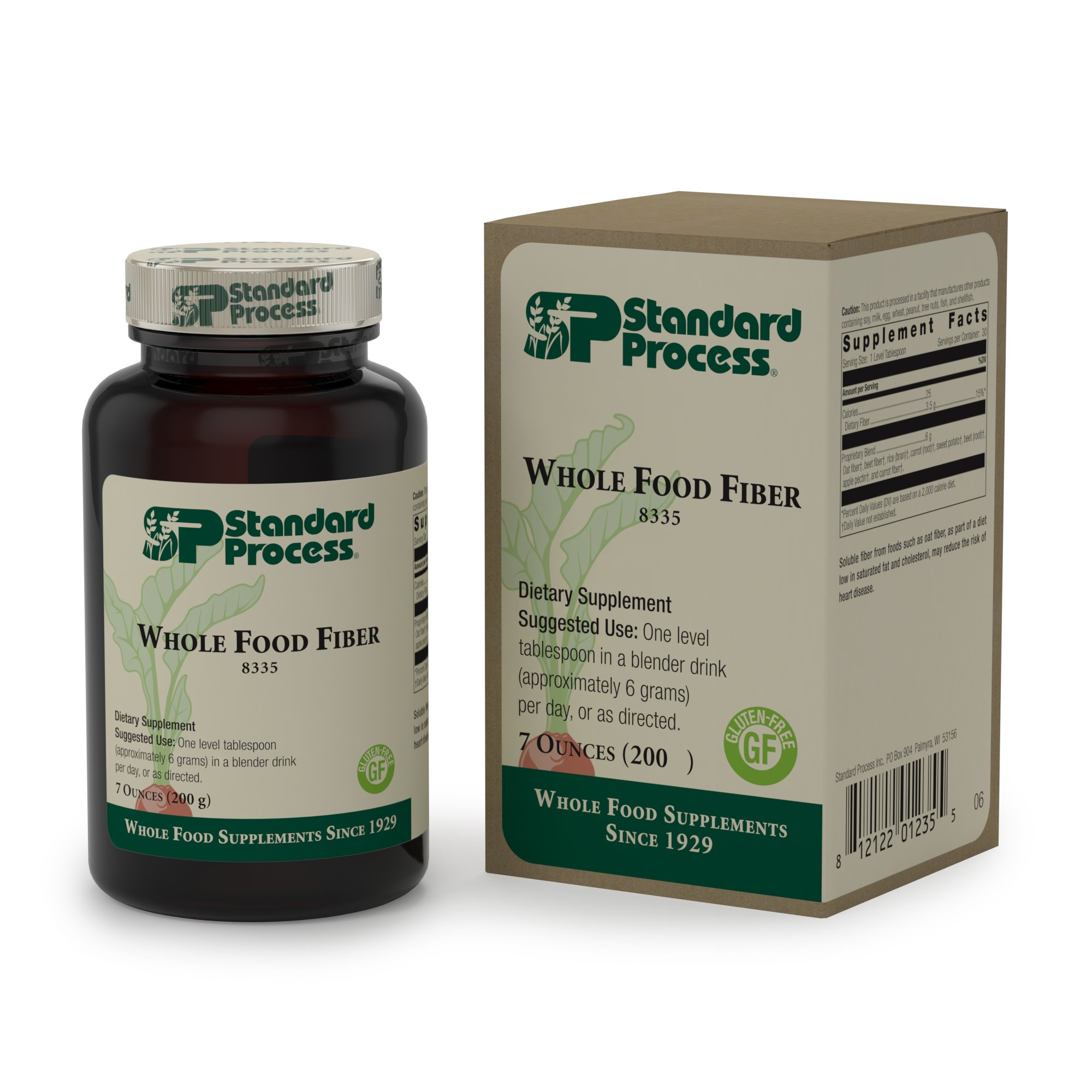 Standard Process - Whole Food Fiber - Nutrient-Rich Fiber Supplement, Supports Health Bowel Function and Intestinal Health, Gluten Free and Vegetarian - 7 oz. (200 g)